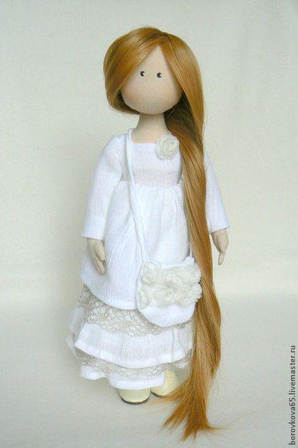 Fabric doll / Коллекционные куклы ручной работы. Ярмарка Мастеров - ручная работа. Купить Жаклин.. Handmade. Белый, подарок женщине, синтепон