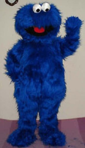 Cookie Monster Mascot. We offer Costume Rentals along with Character Visit Packages