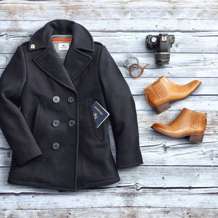 The Women's Navigator Peacoat is a limited edition jacket made specifically for Sperry by Fidelity. Pair it with the effortlessly chic Juniper Bree - a versatile ankle bootie made for seasonal adventures.
