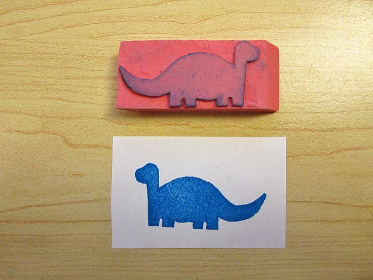 DIY stamp out of an eraser.