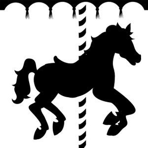 Caraousel Horse Clipart Image: Silhouette of a carousel horse