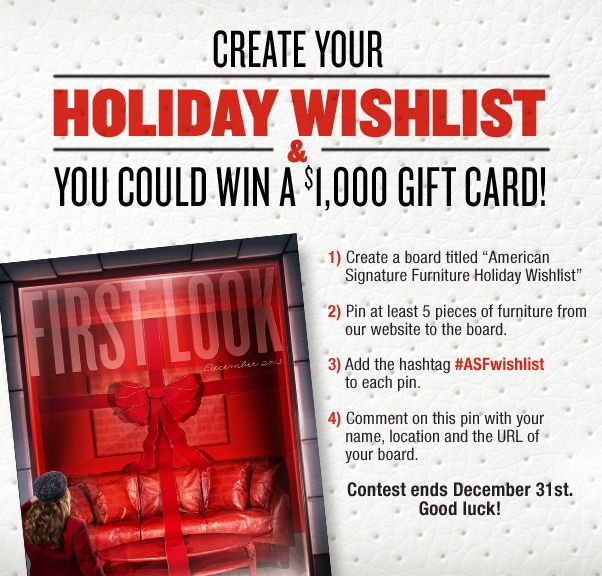 Create Your Holiday Wishlist And A $1000 Gift Card Could Be Yours! When Youu0027