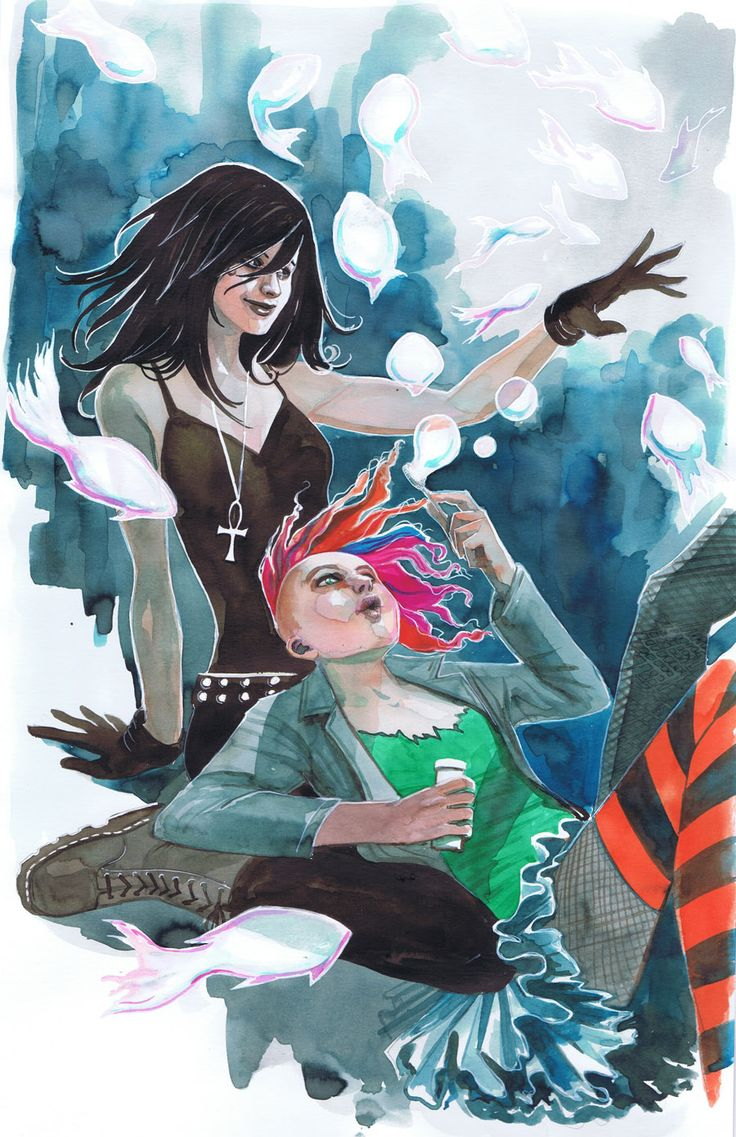 Vertigo's Death and Delirium from sandman commission. That was fun