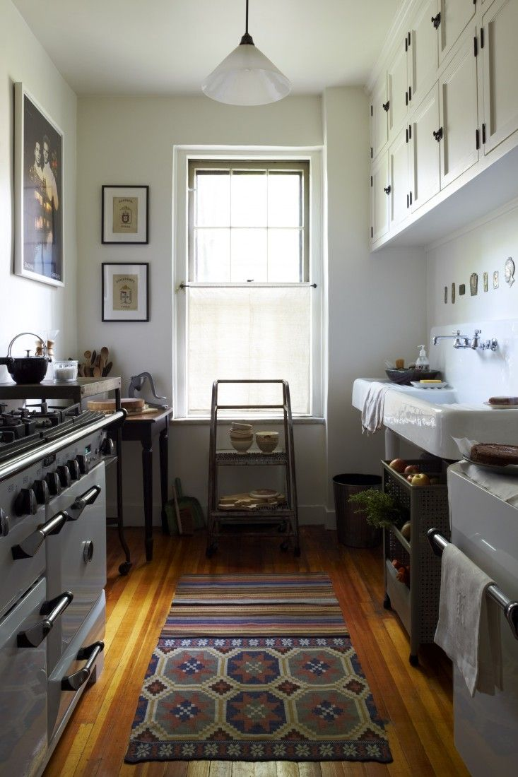 In the kitchen of Jesse James and Kostas Anagnopoulos of Aesthetic Movement's apartment in Jackson Heights, Queens, NY, photographed by Philip Ficks | Remodelista  Brendan Nelson Rhythm