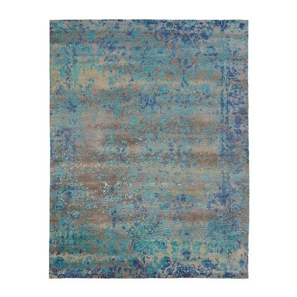 tapis de luxe sur mesure h u00e9ritage bleu laine