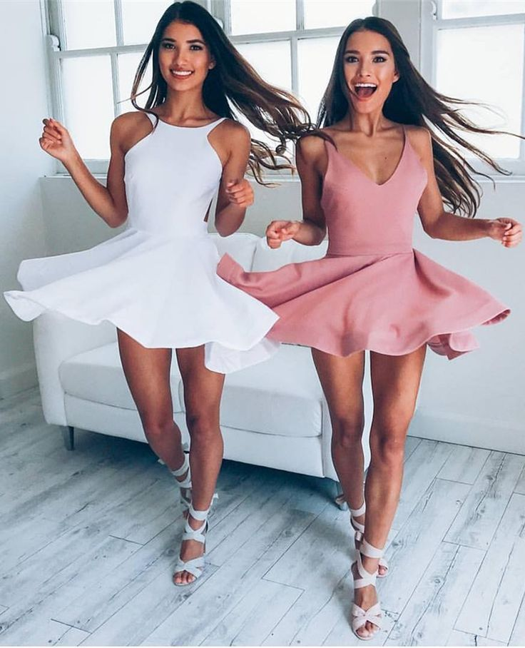 prom dresses,short prom dresses,white prom party dresses,blush v-neck party dresses,vestidos,fashion,WHICH ONE DO YOU LIKE? WHITE OR PINK