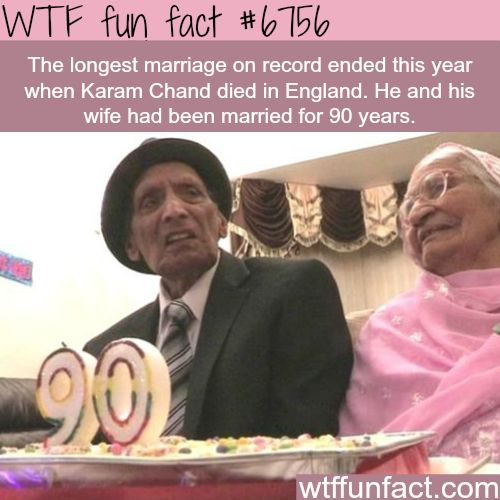 The longest marriage on record ended this year - WTF fun fact