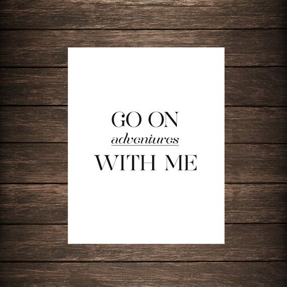 Go On Adventures With Me Typographic Print Travel by eastlovecoast, $12.00