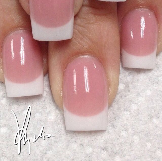 Tammy Taylor colored acrylic over tips..white (WW) acrylic at tip..pink (P3) acrylic on nail bed... ALL FREEHAND and  no drills used..