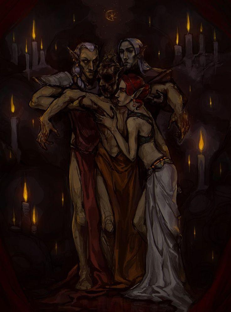 The Elder Scrolls,фэндомы,Morrowind,Альмалексия,Альмсиви,TES Персонажи,Вивек,Сота Сил,Неревар,Selann,TES art