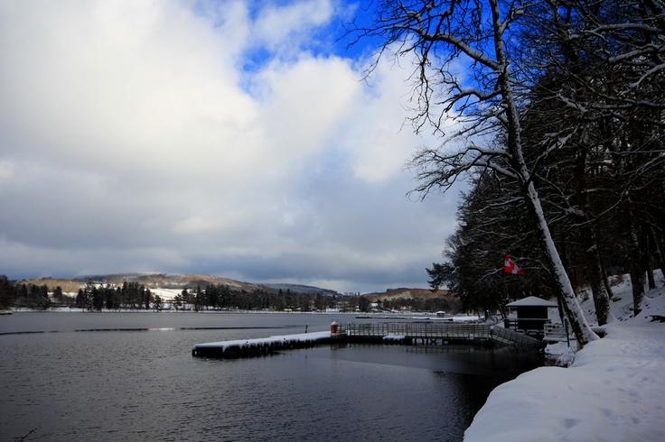 Vue du Lac des Settons depuis le barrage hiver 2012/2013 #Morvan #Bourgogne