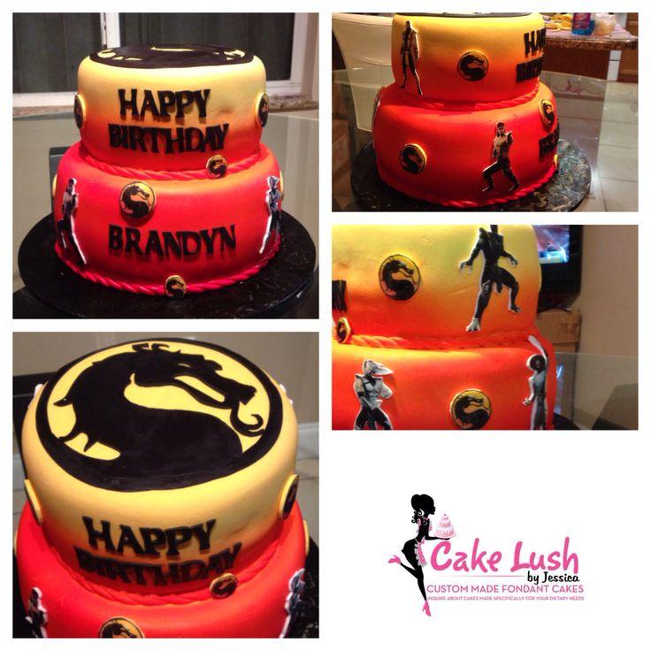 Mortal Kombat Cake #mortalkombat #cakelush #cakemiami #miamicakes