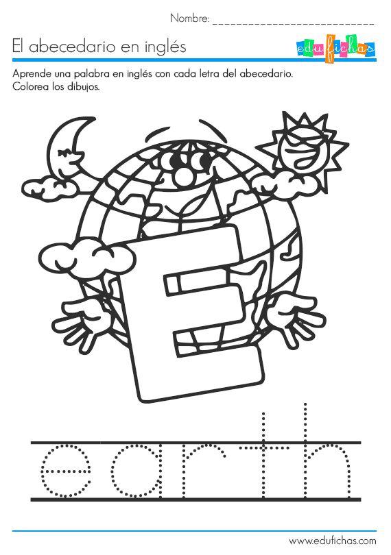 Descarga nuestro cuadernillo del abecedario en inglés en PDF gratis, con una palabra de vocabulario por cada una de las letras, y dibujos para colorear...