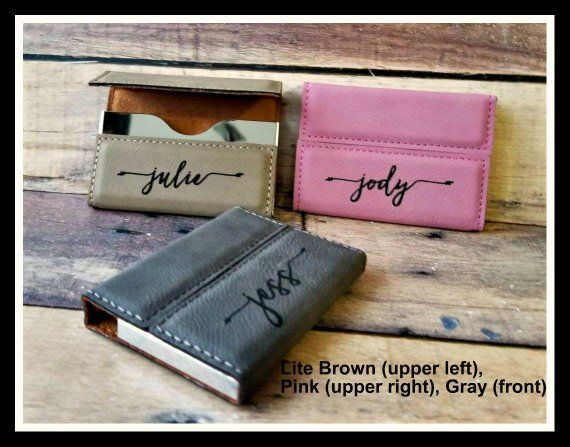 Business Card Holder Leather Personalized Custom Engraved Etsy Business Card Holders Corporate Gifts New Job Gift