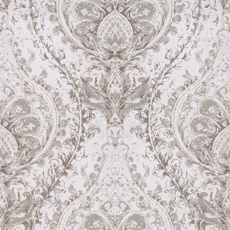 tan painted damask large scale weathered classic home wallpaper r2687 - Contemporary Damask Wallpaper