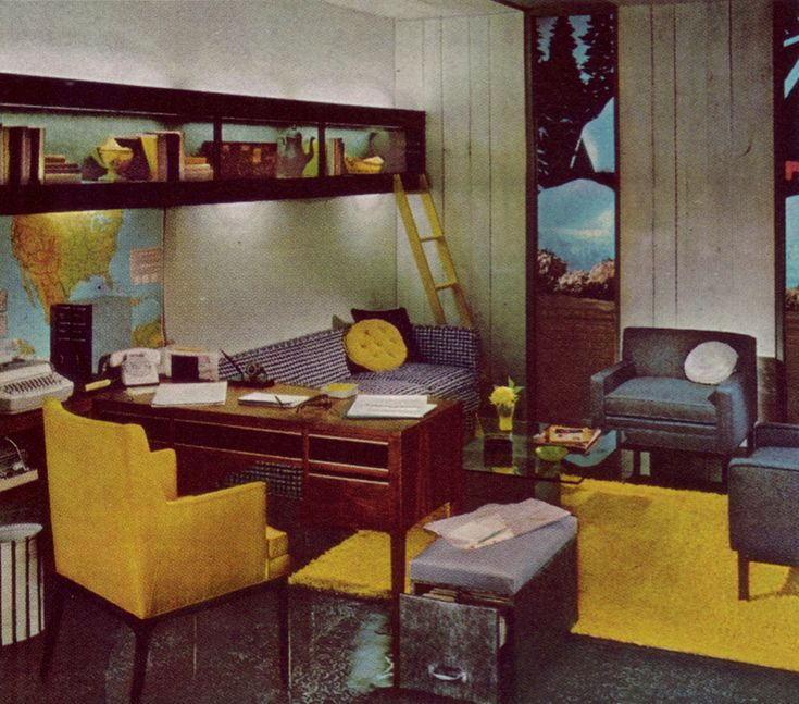 1970s Home Office Vintage Office Pinterest 1970s