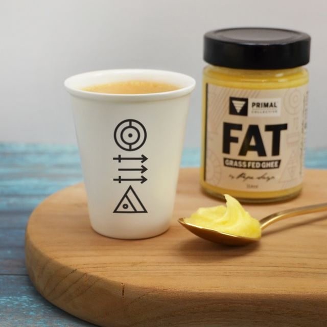 Bulletproof Coffee with Primal Collective FAT (Grass Fed Ghee) by Pepe Saya. Styled and shot by Atelier 1000 words. #Paleo