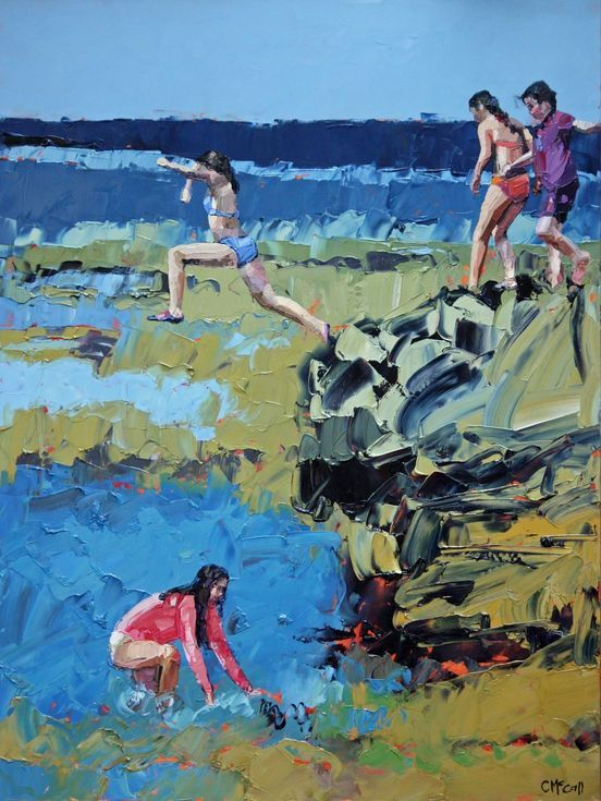 Buy Rockpool Jumping, Oil painting by Claire McCall on Artfinder. Discover thousands of other original paintings, prints, sculptures and photography from independent artists.