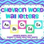 These chevron word wall letters include all 26 letters of the alphabet with 5 different chevron designs for the background. You can use all 5 color...
