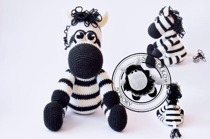 Agnieszka Mężyk, Szydełkowe Stwory, zebra www.polandhandmade.pl #polandhandmade #crochet #amigurumi