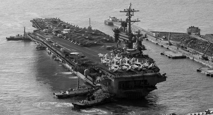 'Tedbir amaçlı': Avustralya seyahati iptal edilen ABD hücum filosu Kore sularında