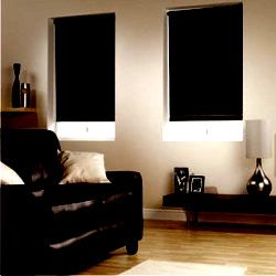 Black Window Blinds Mini Vertical