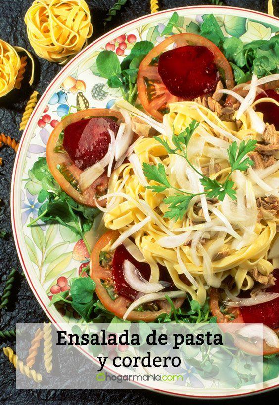 Receta de Karlos Arguiñano de ensalada de pasta y cordero.