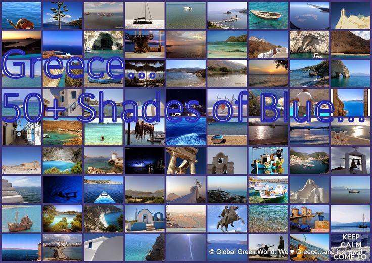 Celebrating our 6th Birthday with 50+ Shades of Blue...Brilliant Hellenic Blue - #Greece! Γιορτάζουμε με 50+ Αποχρώσεις του Γαλάζιου Αθάνατη Ελλάδα!  http://globalgreekworld.blogspot.gr/2015/03/greece-50-shades-of-blue-brilliant.html