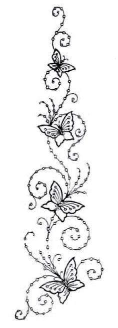 cenefa de mariposas