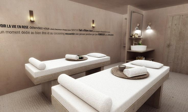 Cabine de soins Hôtel l'héliopic - Chamonix mont-blanc. Plus d'informations sur: www.heliopic-hotel-spa.com