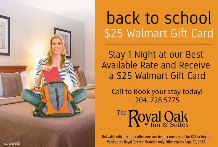Our ‪#‎BackToSchool‬ promotion is ON NOW! Get a $25 Walmart Gift Card! http://bit.ly/1ErEGuY