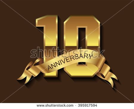 10th anniversary design.10 years anniversary.Vector illustration.