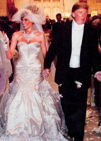 17 best ideas about donald trump wedding on pinterest for Melania trump wedding dress