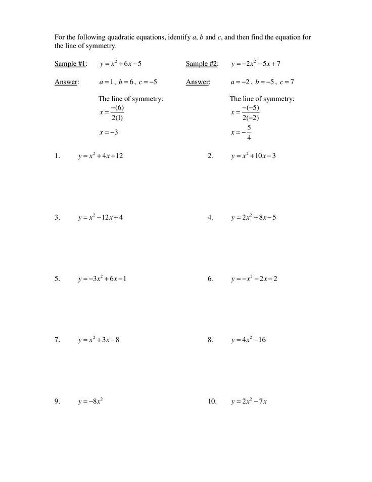 Standard Form Of A Linear Equation Worksheet   Standard ...