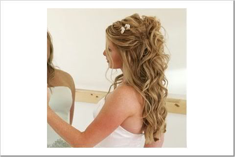 half up-dos w/ loose curls- « Weddingbee Boards