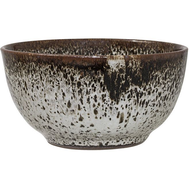 Bloomingville  Speckled Ceramic Stoneware Bowl : Designed in Denmark, this stoneware soup bowl in brown + fawn colour way is part of a larger tableware collection including plates, mugs and storage pots. The neutral palette and texture give versatility to the collection, allowing them to fit in with most kitchenware.