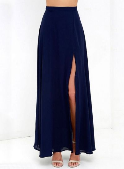 7dcd01ef2f The royal blue color skirt is featured invisible zipper, side split.;;;;;.