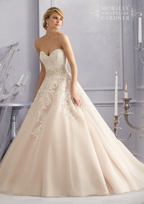 Bridal Gown From Mori Lee By Madeline Gardner Dress Style 2690 Diamante Beaded…