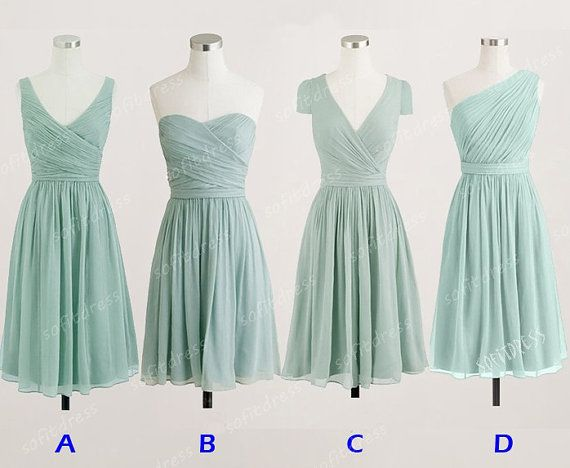 chiffon bridesmaid dress, vintage bridesmaid dress, prom dress bridesmaid, custom bridesmaid dress, junior bridesmaid dresses, BE0371 on Etsy, £56.32