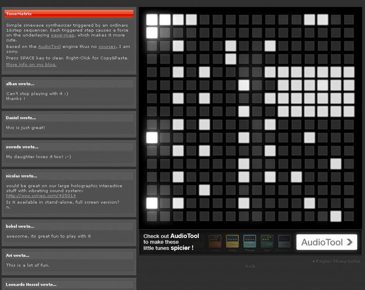 ToneMatrix, un sintetizador a lo matrix
