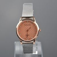 Watch-Discounter - Amber dames horloge strass steentjes goud roze