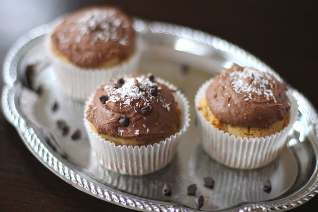 Coconut Quinoa Cupcakes with Chocolate Frosting desserts with benefits - out of control!!!