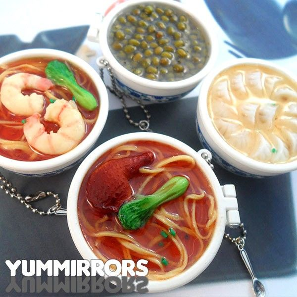 Yummirrors are an incredible masterpiece of miniaturization! They look like traditional Asian dishes made of resin and plastic, and their realism is absolutely awesome! This faithful reproduction of Asian food hides two useful mirrors. Find it on www.Delicute.com