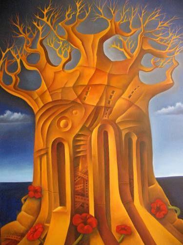 "Saatchi Art Artist Ruben Cukier; Painting, ""The Tree of Dispair"" #art"