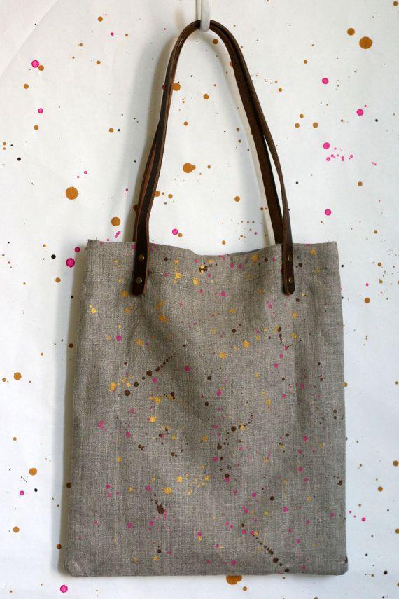 Confetti Mini Tote Bag by Jen Hewett