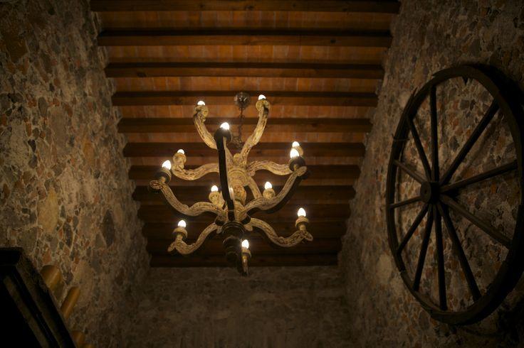 Interior details at La Casa Dragones.