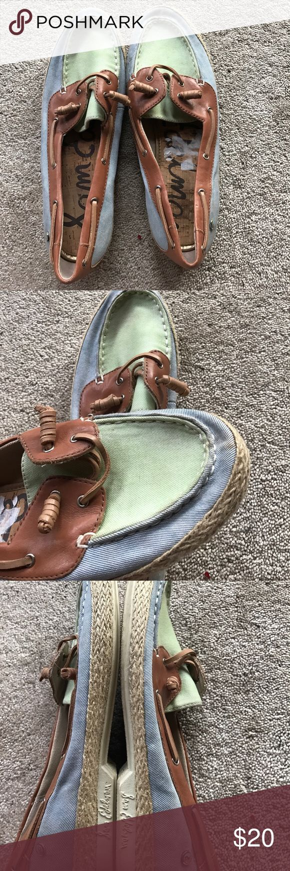 Boat shoes Green and blue boat shoes Sam Edelman Shoes