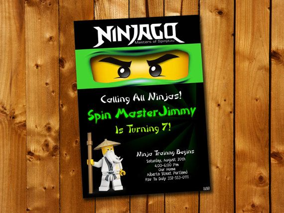 81 best birthday invitation card images on pinterest invitation ninjago birthday invitation birthday party for little by stopboris Choice Image