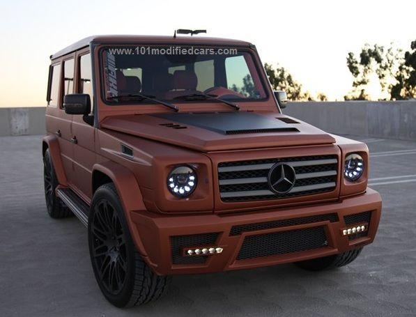 Modified mercedes benz g class wagen 463 g55 amg copper for Mercedes benz g55 power wheels