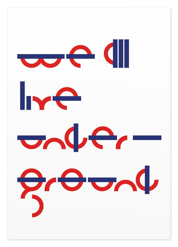 We All Live Underground — Poster by SAWDUST , via Behance
